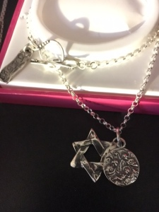 Hart Impressions... Jesus, THANK GOD You're here ... Star of David with Nativity Scene and Jesus necklace